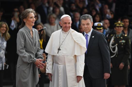 Llegada del Papa a Colombia
