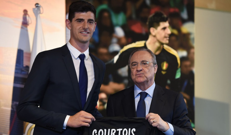 """Florentino Pérez Courtois mejor portero del mundo Real Madrid: Florentino: """"Courtois es uno de los mejores, sino el mejor del mundo"""""""