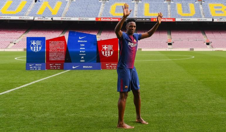 Yerry Mina y su carta de despedida al Barcelona: Conmovedor mensaje de despedida de Yerry Mina al Barcelona