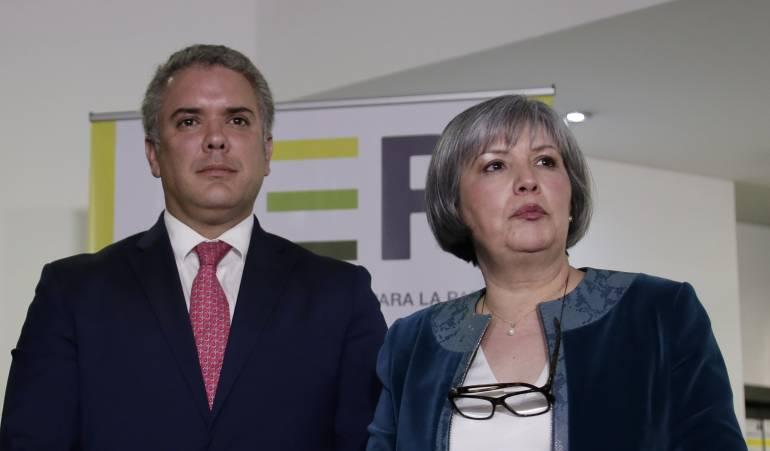 Iván Duque / Presidenta de la JEP.