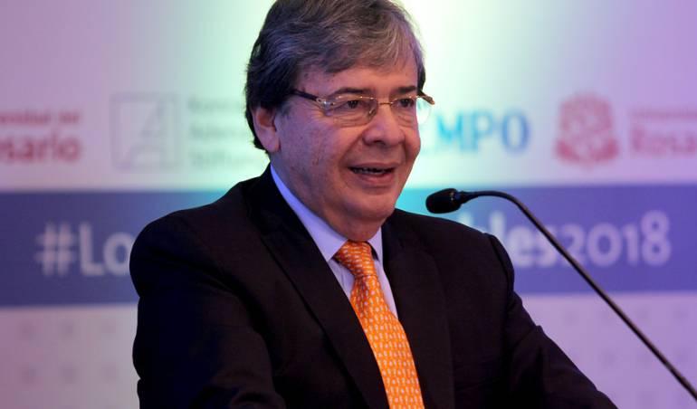 Canciller Carlos Holmes Trujillo