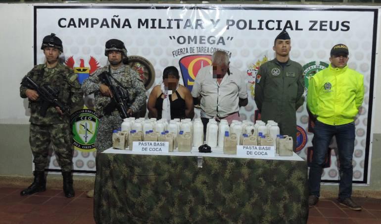 Narcotráfico: Millonario cargamento de pasta base de coca incautado en el Guaviare