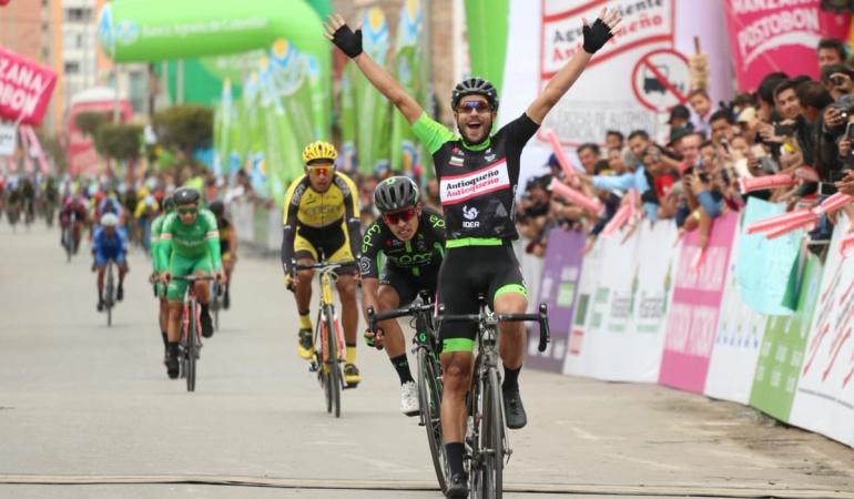 Carlos Julián Quintero ganó la sexta etapa de la Vuelta Colombia 2018