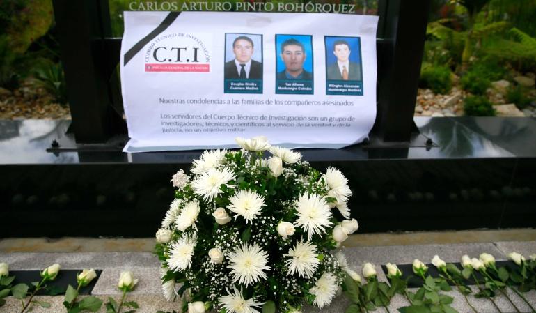 carcel por asesonato a agentes CTI: Alias 'Natalia' habría dado orden de asesinar a tres agentes del CTI