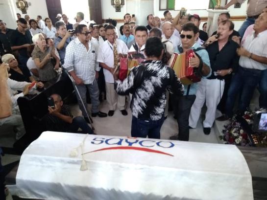 Nacho Paredes: Con música despiden al maestro Nacho Paredes en Sincelejo