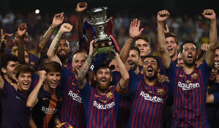 Barcelona ganador Supercopa de España: Barcelona ganó la Supercopa de España ante el Sevilla de Muriel