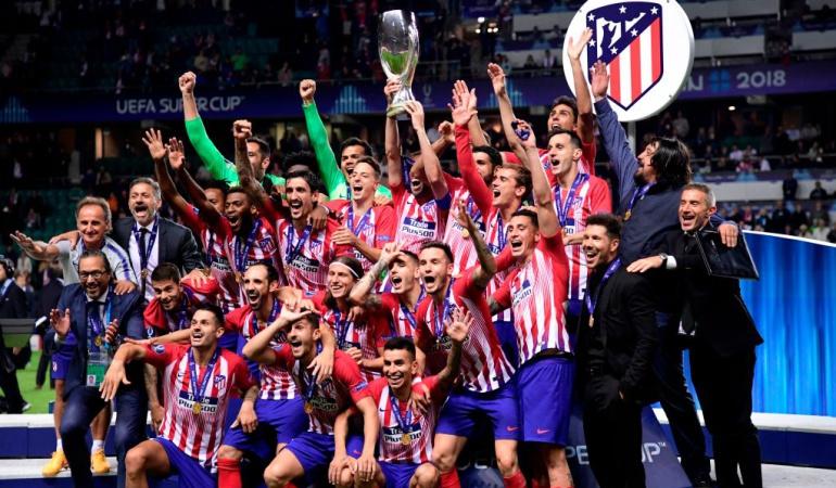Atlético Madrid Arias campeón Supercopa Europa: Arias celebró su primer título con el Atlético, campeón de Europa