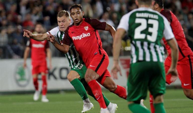 Sevilla Muriel Liga de Europa: Sevilla, con Muriel, accedió a la ronda previa de la Liga de Europa
