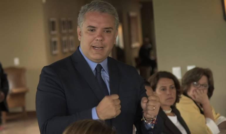 Presidente de Colombia Iván Duque