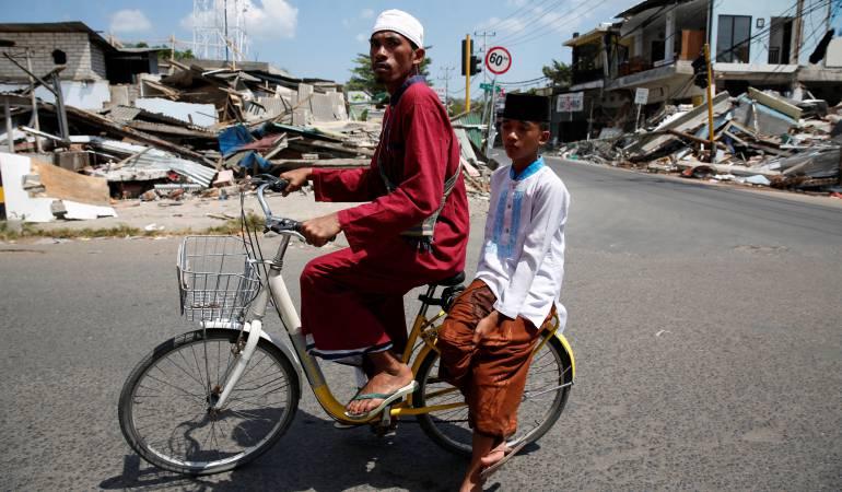 Un nuevo terremoto sacude la Isla de Lombok, Indonesia