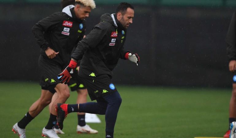 David Ospina primer entrenamiento Napoli: David Ospina realizó su primera práctica con el Napoli