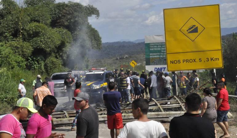 Masivo regreso de venezolanos tras ser sacados de Brasil