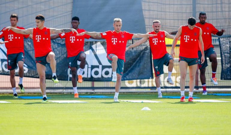 James Rodríguez Bayern Múnich: James entrena con normalidad y podría reaparecer este viernes