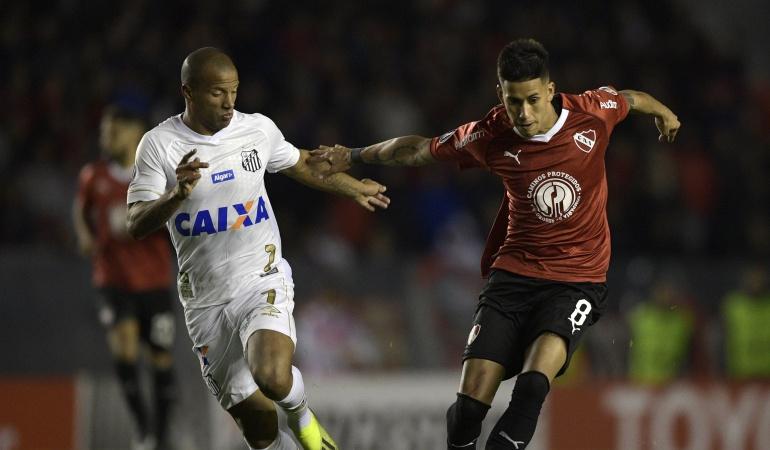 Santos, Carlos Sanchez, Conmebol, Copa Libertadores, Independiente: CONMEBOL inició un proceso disciplinario en contra de Santos