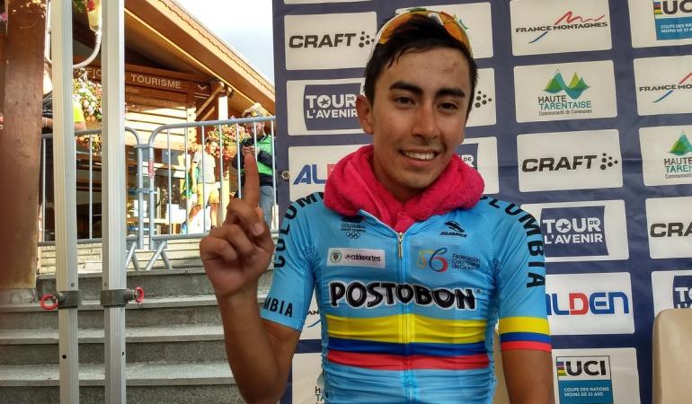Iván Sosa ganó séptima etapa Tour de L'Avenir: Iván Ramiro Sosa ganó la séptima etapa del Tour de L'Avenir