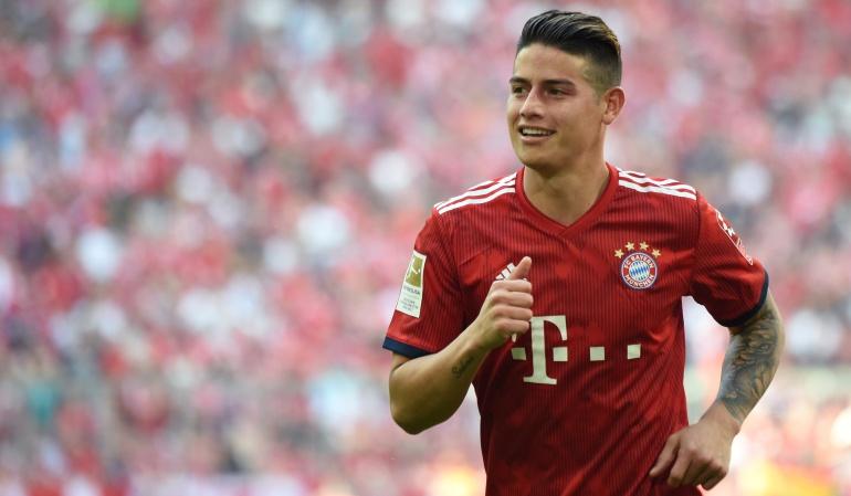 James Rodríguez, Bayern Múnich, Bundesliga: James superó su lesión y debutó con Bayern Múnich en la Bundesliga
