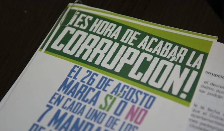 La Consulta Anticorrupción se vota este 26 de agosto.
