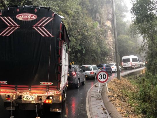 Via Bogotá y Choachí: Hasta cinco horas tarda movilizarse entre Bogotá y Choachí