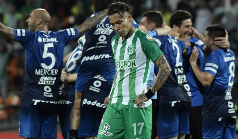 Atlético Nacional, Copa Libertadores, Atlético Tucumán: Nuevo fracaso de Almirón: Nacional, eliminado de la Libertadores
