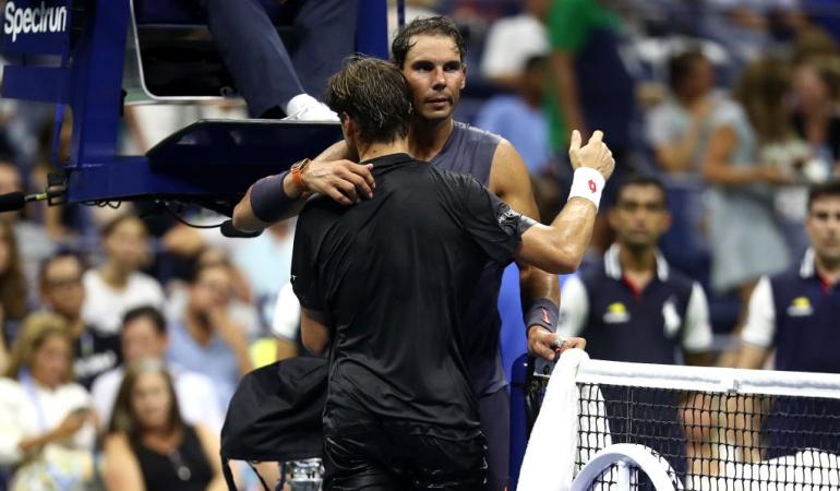 Rafael Nadal David Ferrer US Open: Nadal se quedó con el duelo de españoles en la primera ronda del US Open