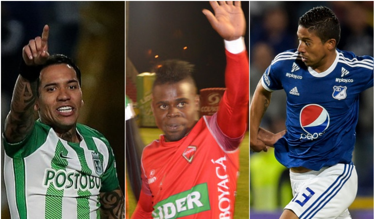 Dayro Moreno, Carlos Mosquera y Cristian Marrugo.