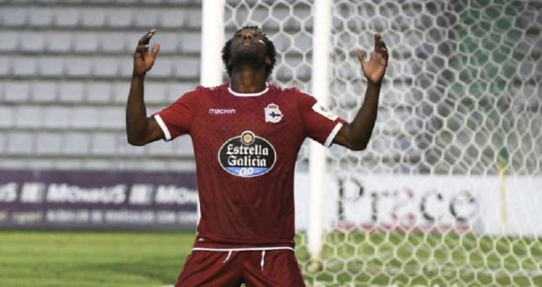 Didier Moreno, Deportivo de la Coruña, España: Didier Moreno marcó su primer gol con el Deportivo La Coruña