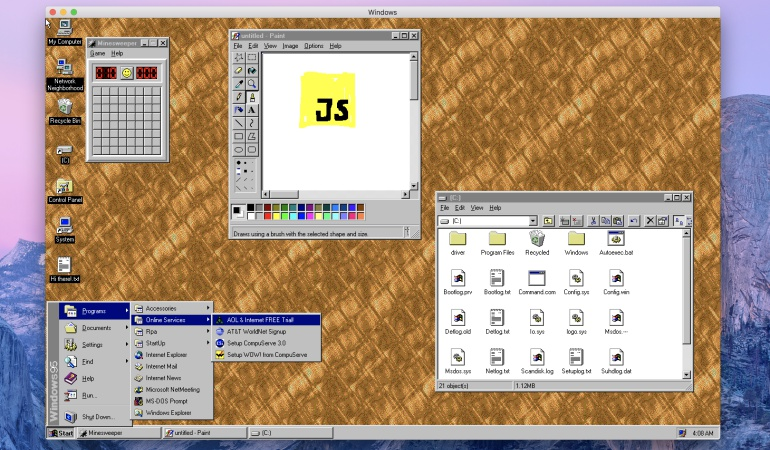 Regresa windows 95: ¿El regreso de Buscaminas?