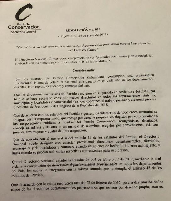 Nuevo CNE en Colombia: Conservatismo eligió a un candidato al CNE que estaría inhabilitado