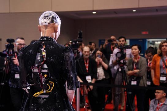 EL robot Sophia en Andicom: El robot Sophia, atractivo en la clausura de ANDICOM 2018 en Cartagena
