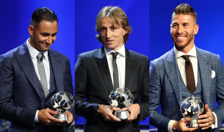 Premios UEFA, Real Madrid, Modric, Sergio Ramos, Keylor Navas: Real Madrid arrasó con los premios UEFA; Keylor, Modric y Ramos los mejores