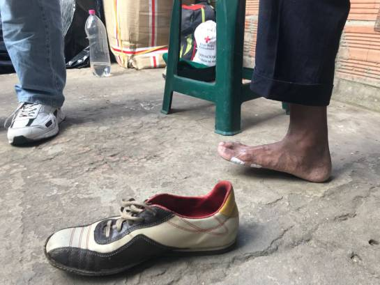 Migración venezolana: Un grupo de 8 niños y sus padres llevan 24 días caminando de Cúcuta a Tunja