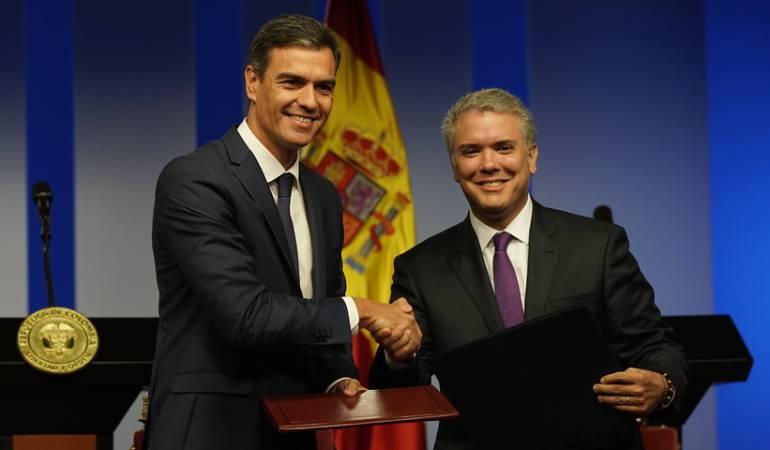 Visita Pedro Sánchez: Sánchez y Duque creen que encontrarán solución al caso del galeón San José