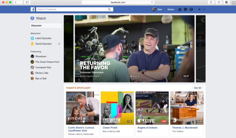 Facebook Watch en todo el mundo: ¿Tiembla Youtube? Ya está disponible Facebook Watch