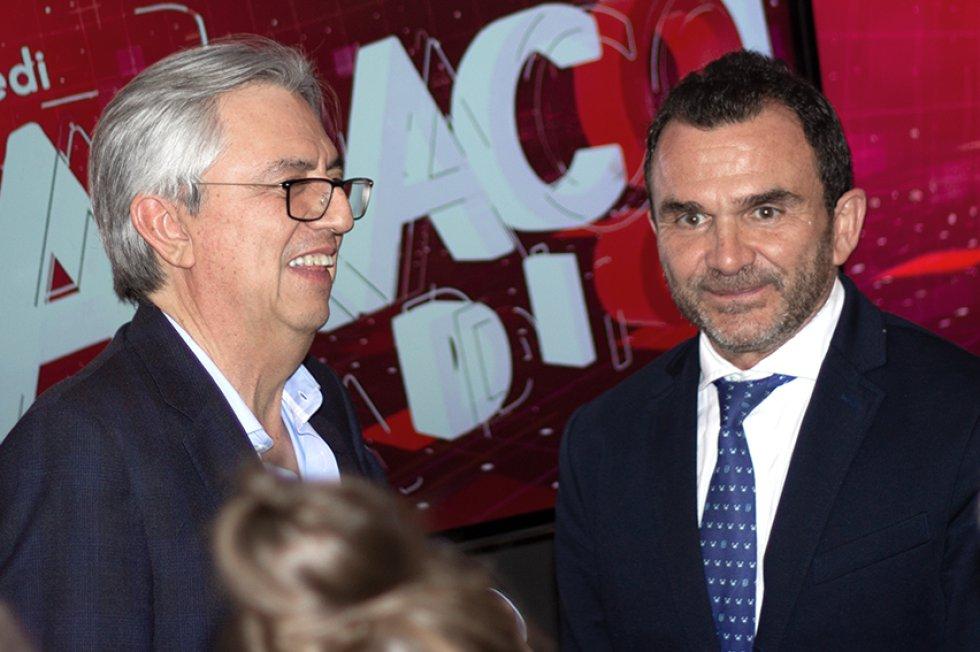 Ricardo Alarcón e Ignacio Reglero, de Caracol Radio.