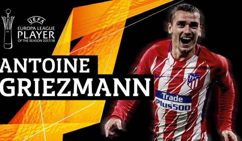 Antoine Griezmann Liga de Europa mejor: Antoine Griezmann, elegido mejor jugador de la Liga de Europa