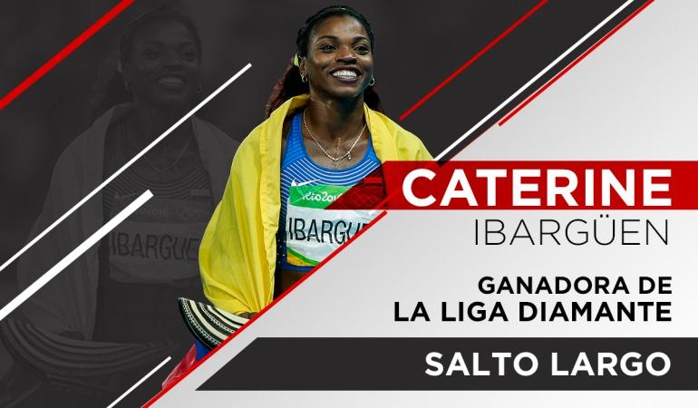 Caterine Ibargüen Liga Diamante Salto largo: Histórico: Caterine conquista el título del salto largo en la Liga Diamante