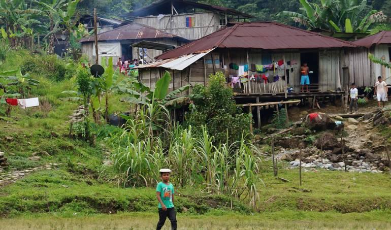 Comunidades indígenas Embera Katío de Mondó Mondocito, ubicado en el municipio de Tadó, Chocó