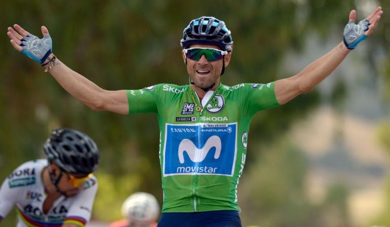 Etapa 8 Vuelta a España: Valverde se queda con la victoria en la etapa 8 y acecha el primer lugar