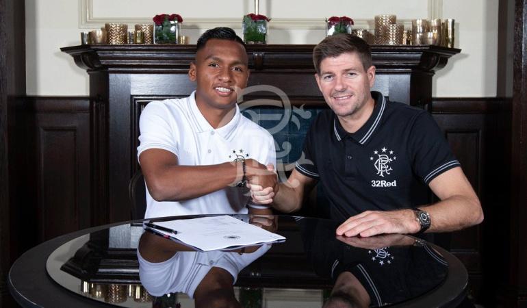 Alfredo Morelos Rangers: Alfredo Morelos renovó con el Rangers hasta el 2022