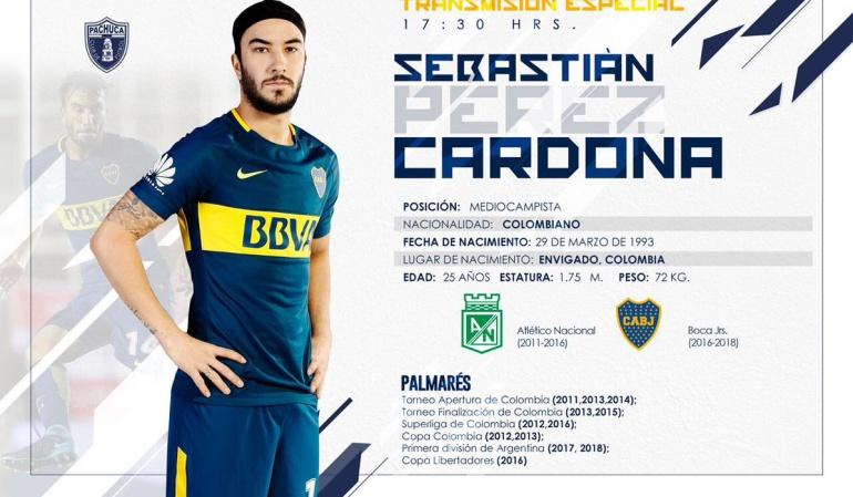 Sebastián Pérez Pachuca Boca Juniors: Sebastián Pérez, nuevo jugador del Pachuca de México