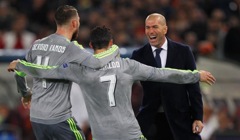 """Zinedine Zidane, Real Madrid, Cristiano Ronaldo, Sergio Ramos: Zidane: """"Ramos es un líder en el vestuario, Cristiano en la cancha"""""""