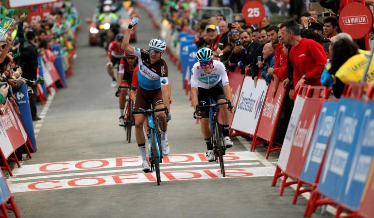 Alexandre Geniez etapa 12 Vuelta a España: Alexandre Geniez ganó la etapa 12 y Jesús Herrada es el nuevo líder