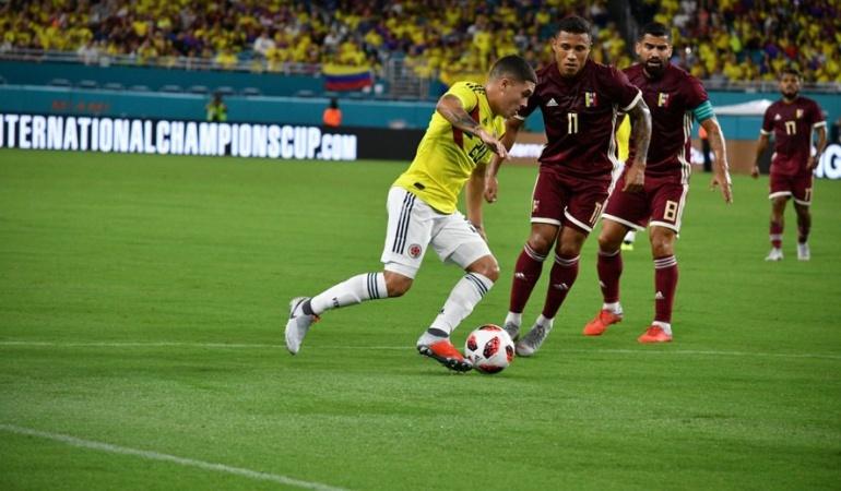 Colombia Venezuela on line: ¡Colombia empieza con victoria la era post Pékerman!