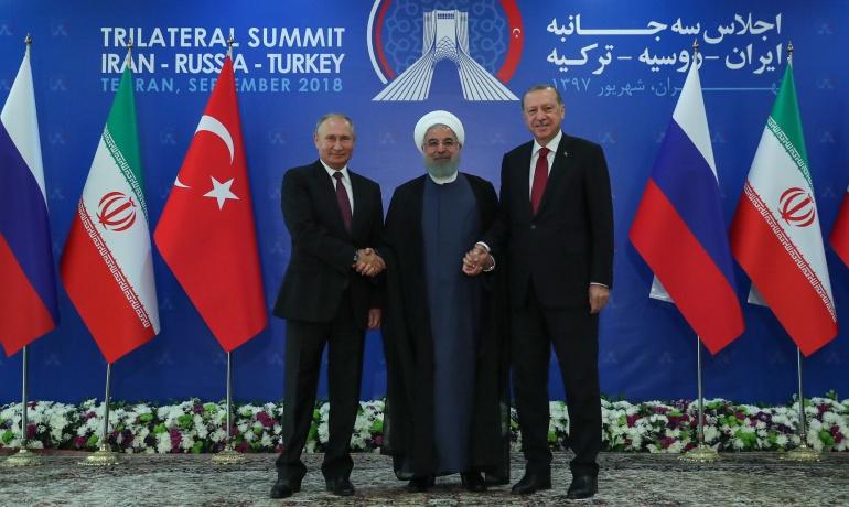 Cumbre presidentes de Turquía, Rusia e Irán