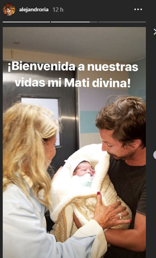 Nació la hija de Alejandro Riaño y su novia María Alejandra Manotas