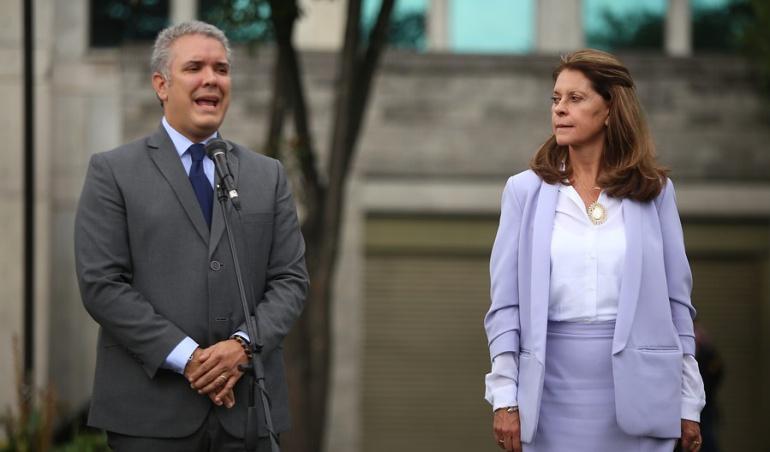 El Presidente Iván Duque y la Vicepresidenta Marta Lucía Ramírez.