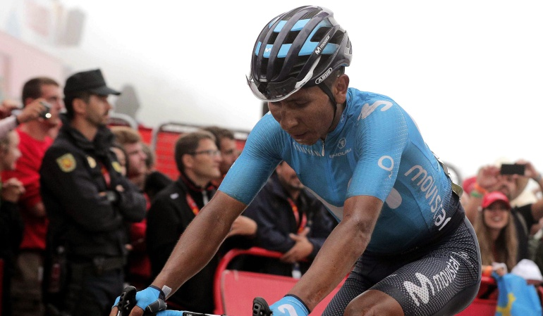 Vuelta a España: Yates aguanta el liderato, pero Valverde se acerca