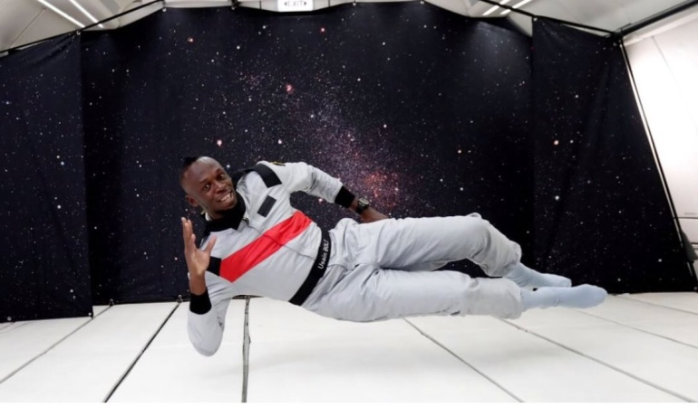 Usain Bolt a gravedad cero: 'El hijo del viento', ahora vence a la gravedad