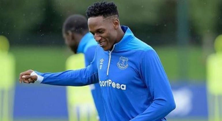 Yerry Mina Everton entrenamientos: Yerry Mina, cerca de volver: ya trabaja a la par de sus compañeros