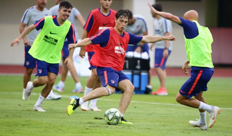 Andrés Solano Atlético de Madrid Eibar: Juvenil Andrés Solano, convocado por Simeone para juego de Liga ante Eibar